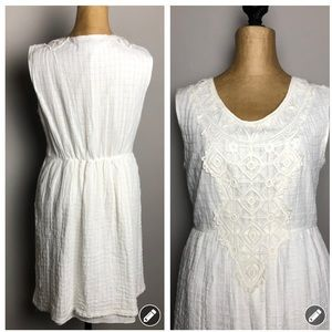 Max Studio white appliqué sleeveless mini dress